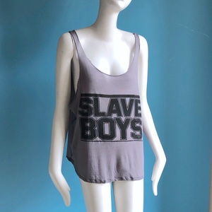 Obesity & Speed Tops - Obesity & Speed SLAVE BOYS Sexy Summer Tank Top